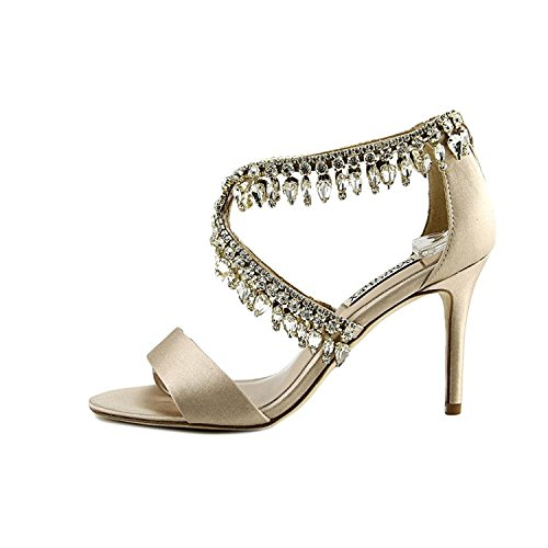 Badgley Mischka Womens Grammy Open Toe Bridal Ankle Strap, LATSAT, Size 6.5