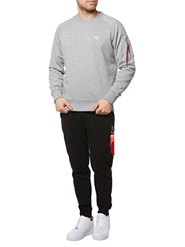 X Industries Sweat Homme shirt Noir Grey fit Alpha qAwRI4xdR