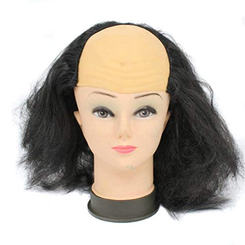 BERON Bald Head Wigs for Halloween Costume (Black)
