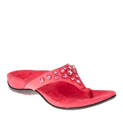 Orthaheel Vionic With Orthaheel Technology Womens Pearl Sandal Fuchsia Size 5