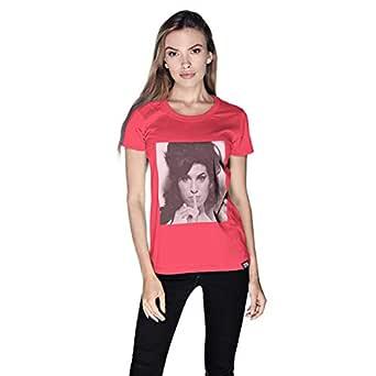 Creo Amy Winehouse T-Shirt For Women - Xl, Pink