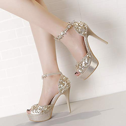 platform and six shoes sexy heel fish super princess fashion 12cm Thirty sandals waterproof LBTSQ high mouth thin vHS0nq