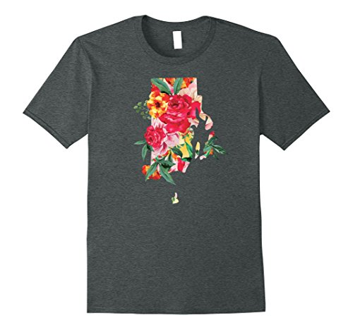 Mens Rhode Island Shirt State for Women Men: Native Gift Love Tee XL Dark Heather