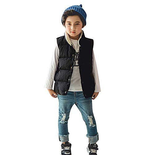 SMALLE ◕‿◕ Boys Girls Down Vest Kids Lightweight Zip Quilted Sleeveless Jacket Winter Hooded Waistcoat Coat -