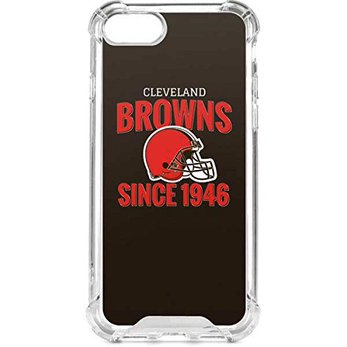 Skinit NFL Cleveland Browns iPhone 7 LeNu Case - Cleveland Browns Helmet Design - Premium Vinyl Decal Phone Cover - Cleveland Browns Cover