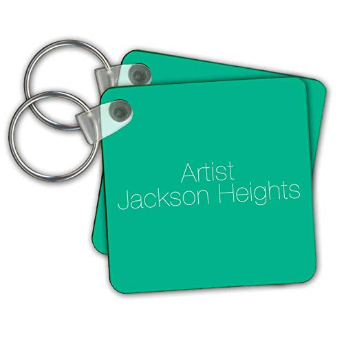 KIKE CALVO Jackson Heights Queens - Jackson Heights Queens Artist - Key Chains - set of 2 Key Chains (kc_302221_1)