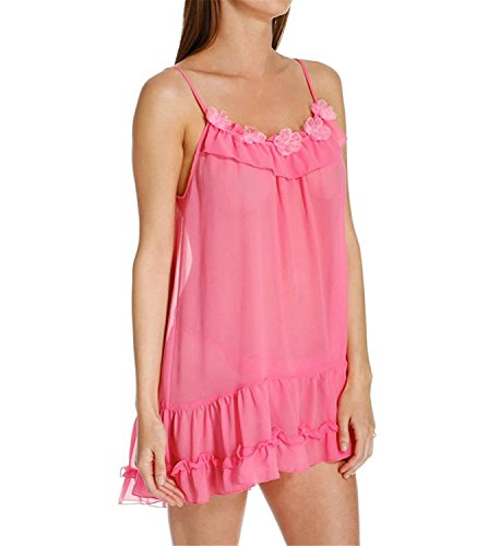 Musiclovely sexy Intimates Sophia Chemise With Pearl Thong (18894) L/Pink Carnation