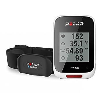 f3af0d393bd Polar M450 Compteur Vélo GPS Blanc - Avec Ceinture Cardiaque  Amazon ...