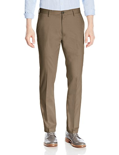 Goodthreads Men's Slim-Fit Wrinkle-Free Dress Chino Pant, Taupe, 31W x 29L