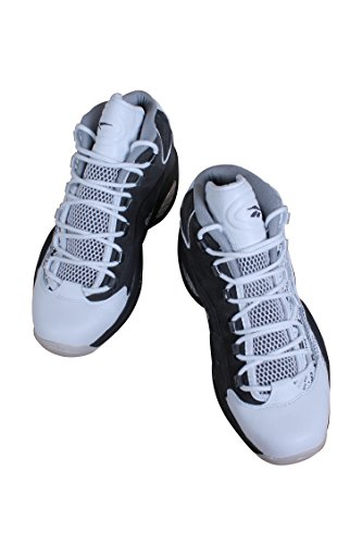Reebok Mens Domanda Mid Shoe Classico Bianco / Carbone / Arenaria