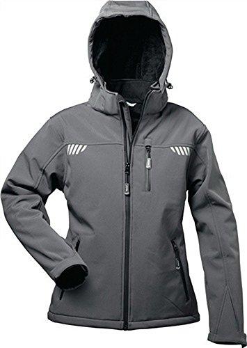 elysee® Softshell Jacke mit Fell Modell: HESTIA Farbe: grau/schwarz (42)