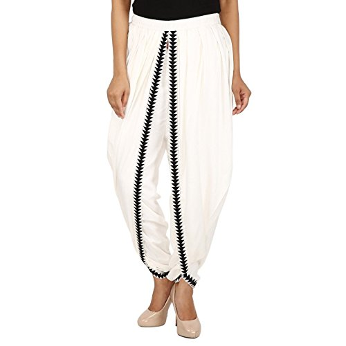 Off-White Color Rayon Dhoti Trouser, Dhoti Pant, Dhoti Salwar, Patiala Dhoti ()