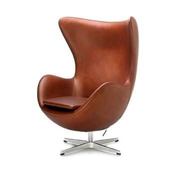 Amazonde Luxuriöse Uka073b Arne Jacobsen Style Egg Chair Leder In
