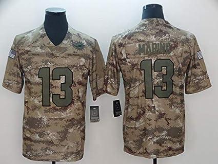 ZJFSL NFL Jersey de f/útbol Miami Dolphins # 13 Camiseta de f/útbol con Mangas Cortas de Estilo Estadounidense Camiseta de f/útbol Bordada
