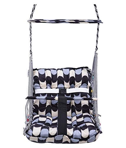 Stunner Multi Color Cotton Swing for Kids Baby's Children Folding and Washable 1-6 Years with Safety Belt – Home,Garden…