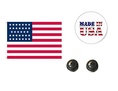 (Made in The USA. 2 Historical 34-Star American 4