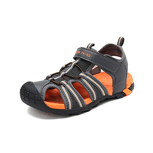 - DREAM PAIRS Little Kid 170813-K Dark Grey Orange Outdoor Summer Sandals Size 12 M US Little Kid