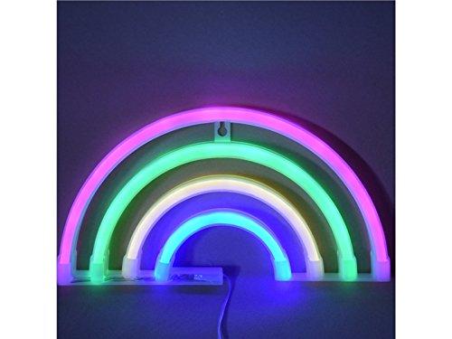 Pullic Portable Lamp USB Rainbow Neon Sign Led Neon Lamps Decor Neon Lights for Bedroom Bar Wedding Festival Decorations