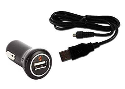 Cell Phone Car Charger 10W 2.A and Micro USB Cable for LG Phones.
