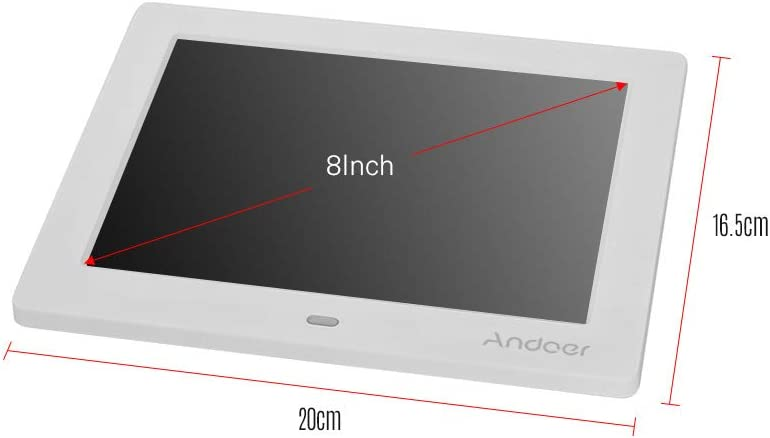 Andoer 15.4 Inch Digital Photo Frame 1280 800 Resolution LED Screen Photo Album 1080P HD Video Playing with 2.4G Wireless Remote Control Music Movie Clock Calendar Functions Gift for Family Friends