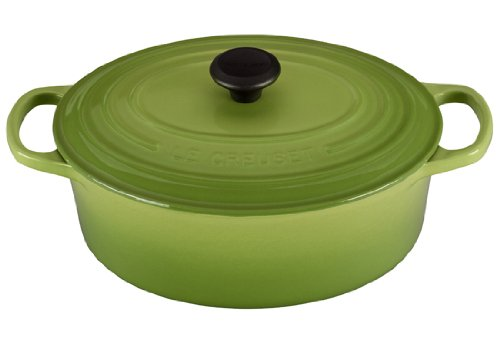 Le Creuset Signature Enameled Cast-Iron 3-1/2-Quart Oval (Dutch) French Oven, Palm