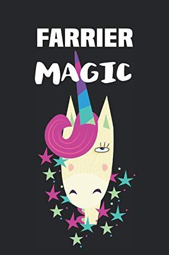 (Farrier Magic: Blank Lined Unicorn Notebook Journal )