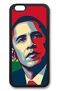 6 Plus Case, iPhone 6 Plus Case Barack Obama Creativity TPU Silicone Gel Back Cover Skin Soft Bumper Case Cover for Apple iPhone 6 Plus
