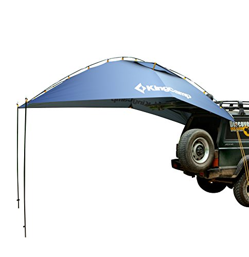 KingCamp Awning Sun Shelter Auto Canopy Camper Trailer Tent Roof Top for Beach, SUV, MPV, Hatchback, Minivan, Sedan, Camping, Outdoor, Anti-uv Tents, Waterproof, Portable (Blue)