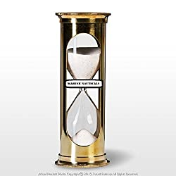 Marine Nauticals 6 Brass Handmade 5 Min Sand Timer Clock Maritime Hourglass Time Art Decor Gift