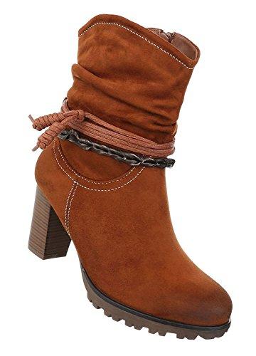 Damen Schuhe Boots Used Schnür Modell 1 Optik Nr Camel Stiefeletten wtgrdxWq4w