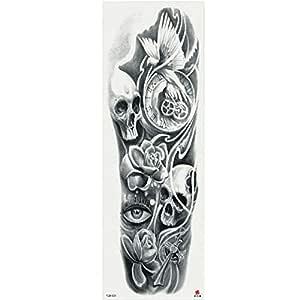 7pcs Pieza tatuaje pieza de loto negro patrón de flor tatuaje ...