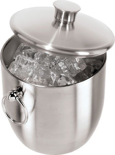 Oggi Stainless Steel Ice Bucket with Tongs, 3 L (Pack of 2)