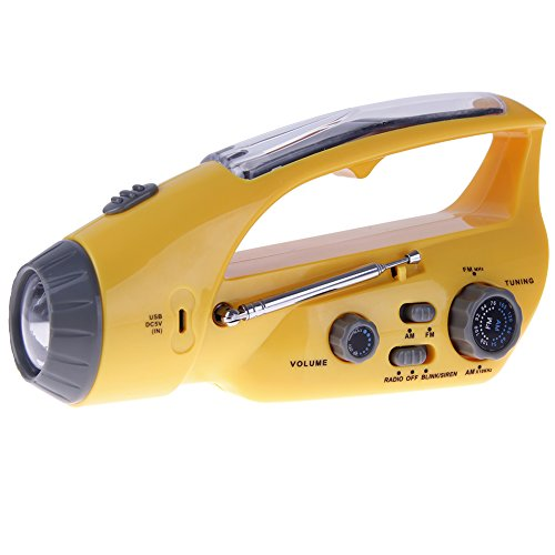 Anmyox Solar Powered Portable Rechargeable Hand-Crank Dyn...
