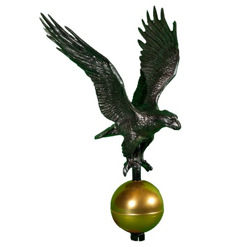 Montague Metal Products Swedish Iron Flagpole Eagle, ()