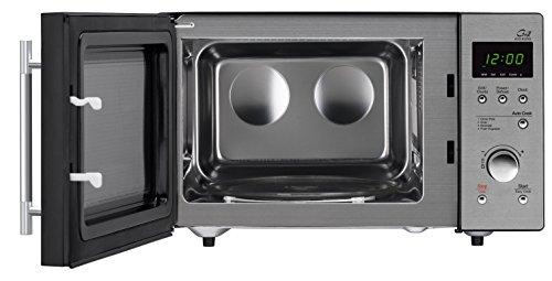 Daewoo KOG-837RS - Microondas, 800 W, 23 litros, con grill, inox