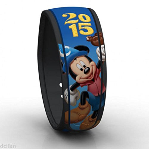 Link It Later Disney Parks Exclusive 2015 Sorcerer Mickey Blue Magic Band - Exclusive Magic
