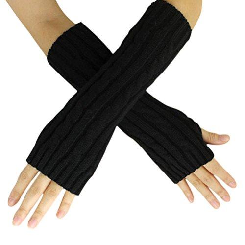 Voberry-Winter-Hemp-Thumb-Arm-Wrap-Warmer-Long-Fingerless-Knit-Wool-Gloves