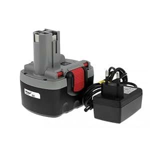 Batería para Bosch Cepillo GHO O-Pack Ion de litio, cargador incluido 14,4 V, Li-Ion, [-Batería para herramientas electroportátiles]