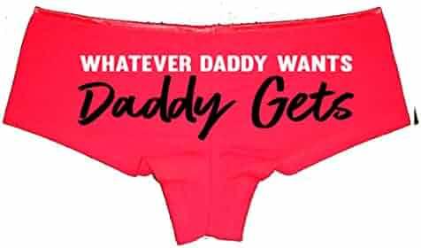 ed4ac3dce6f Whatever Daddy Wants Daddy Gets Booty Shorts Boyshort Cotton Bikini Bottom  Sexy Panties
