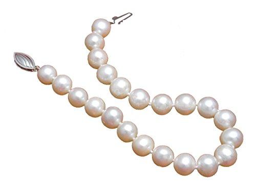 White Freshwater Cultured Pearl Bracelet AA 7mm White Freshwater Bracelets For Women (7mm Aa Freshwater Pearl Bracelet)