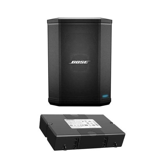 Bose S1 Pro Bluetooth Speaker System Bundle with Battery, Shure PGA48 Microphone, 15ft XLR Audio Cable (6 items) 2 Bundle Includes: Bose S1 Pro Bluetooth Speaker System Bundle with Battery, Shure PGA48 Microphone, 15ft XLR Audio Cable (6 items) Wireless Bluetooth pairing and inputs for a microphone or musical instrument such as a keyboard or guitar Built-in sensors and multiple aiming positions for optimal sound in any nearly position