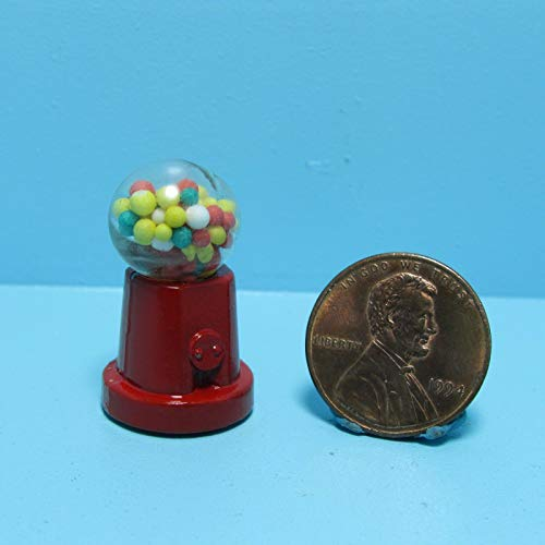 ShopForAllYou Figurines and Statues Dollhouse Miniature Counter Top Gumball Machine Filled ~ D3490