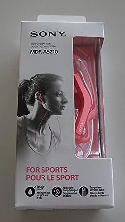 Sony MDRAS210B.AE Sport-Kopfh/örer Spritzwassergesch/ützt schwarz