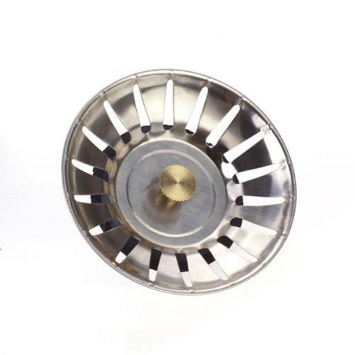 Click Down Kitchen Wash Basin Sink Strainer Drain Garbage Stopper Silver