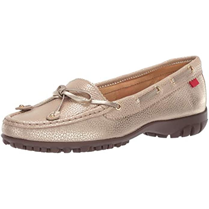 Marc Joseph New York Womens Genuine Golf Leather Made in Brazil Cypress Hill Performance Loafer Moccasin