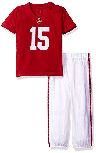 (FAST ASLEEP NCAA Alabama Crimson Tide Boys Toddler/Junior Football Uniform Pajamas, Size 4T, Crimson/White)