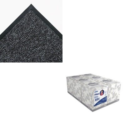 KITCWNFN0046GYKIM21271 - Value Kit - Crown Fore-Runner Outdoor Scraper Mat (CWNFN0046GY) and KIMBERLY CLARK KLEENEX White Facial Tissue (KIM21271)