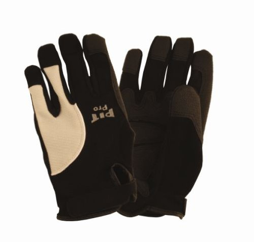 Cordova 77671 Pit Pro Reinforced Palm Padded Activity Glove for Finger Tips and Thumb, Black, (Wear Padded Palm Gloves)