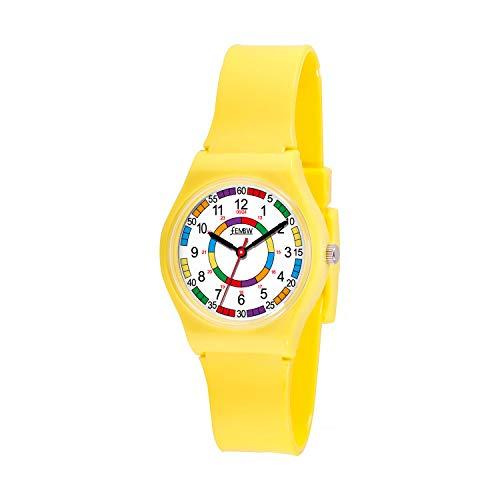 🥇 Reloj Analógico para Niños de Plástico Colorido para Niños de 3-10 Años