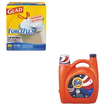 KITCOX70427PAG23064 - Value Kit - Procter amp; Gamble Professional Ultra Liquid Laundry Detergent (PAG23064) and Glad ForceFlex Tall-Kitchen Drawstring Bags (COX70427)